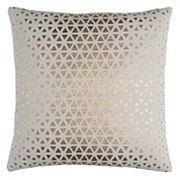 Rizzy Home Textured Foil Diamond Duck Cloth Throw Pillow