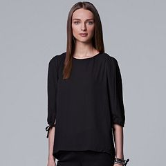 Women's Simply Vera Vera Wang Pleat Shoulder Top
