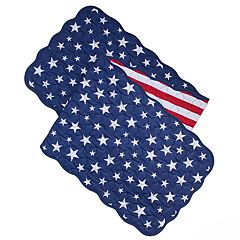 Celebrate Americana Together Quilted Stars & Stripes Table Runner - 54'