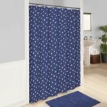 Vue Glam Stripe Polka-Dot Shower Curtain