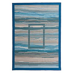World Rug Gallery La Jolla Contemporary Striped Boxes Abstract Rug