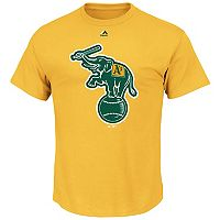 Men's Majestic Oakland Athletics Cooperstown Official Logo Tee