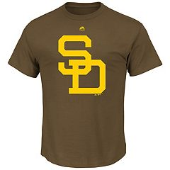Men's Majestic San Diego Padres Cooperstown Official Logo Tee