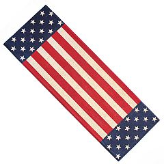 Celebrate Americana Together Flag on Burlap Table Runner - 36'