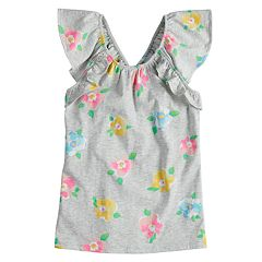 Girls 4-10 SONOMA Goods For Life™ Ruffle & Criss Cross Top