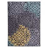 World Rug Gallery La Jolla Modern Transitional Floral Medallion Rug