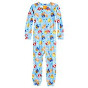 Toddler Boy Paw Patrol Chase, Marshall & Rubble Footless One-Piece Pajamas