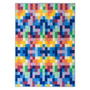 World Rug Gallery La Jolla Modern Bright Boxes Geometric Rug