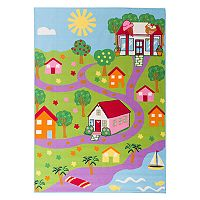 World Rug Gallery La Jolla Kids Playtime Town Rug - 5' x 7'