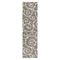 World Rug Gallery Florida Soft Cozy Scroll Shag Rug