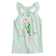 Girls 4-12 SONOMA Goods for Life™ Embellished Graphic Ruffle Tank Top