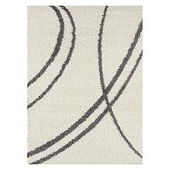 World Rug Gallery Florida Soft Cozy Swirl Shag Rug