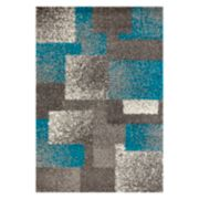 World Rug Gallery Florida Contemporary Geometric Boxes Shag Rug