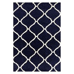 World Rug Gallery Florida Moroccan Lattice Shag Rug