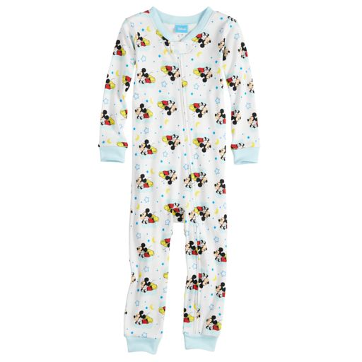 Disney's Mickey Mouse Toddler Boy Footless One-Piece Pajamas