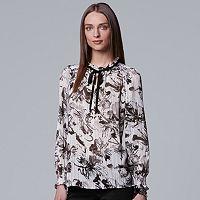 Women's Simply Vera Vera Wang Print Tie-Neck Top