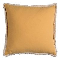 Rizzy Home Solid Linen Flax Blend Throw Pillow