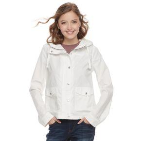 Juniors' SO® Hooded Utility Jacket