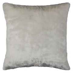 Rizzy Home Solid Faux Fur Throw Pillow