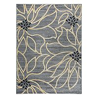 World Rug Gallery Vale Modern Large Floral Rug