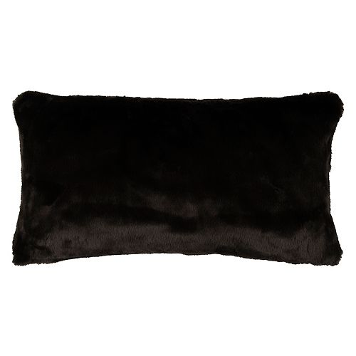 Rizzy Home Solid Faux Fur Oblong Throw Pillow
