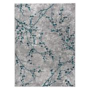 World Rug Gallery Vale Transitional Floral Branches Rug