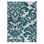World Rug Gallery Vale Modern Damask Rug