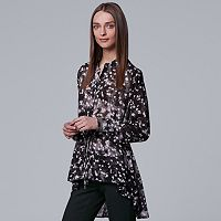 Women's Simply Vera Vera Wang Printed High-Low Blouse