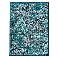 World Rug Gallery Vale Modern Distressed Damask Rug