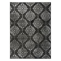 World Rug Gallery Vale Transitional Distressed Contemporary Medallion Rug