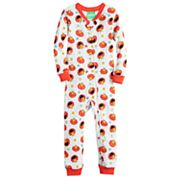 Toddler Boy Sesame Street Elmo Printed One-Piece Footless Pajamas