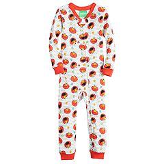 Toddler Boy Sesame Street Elmo Printed One-Piece Footless Pajamas