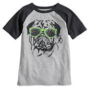 Boys 4-10 Jumping Beans® Pug in Sunglasses Raglan Graphic Tee