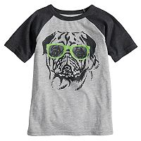 Boys 4-10 Jumping Beans® Pug in Sunglasses Raglan Graphic Tee