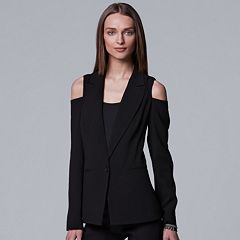 Women's Simply Vera Vera Wang Cold-Shoulder Blazer