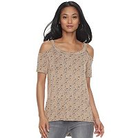 Women's Rock & Republic® Cold-Shoulder High Low Tee