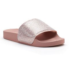 Candie's® Women's Rhinestone Slide Sandals