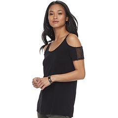 Women's Rock & Republic® Embellished Cold-Shoulder Tee