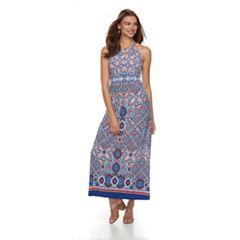 Petite Suite 7 Keyhole High Neck Maxi Dress
