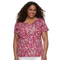 Plus Size Croft & Barrow® Solid Henley Tee