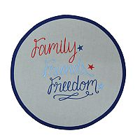 Celebrate Americana Together Round Freedom Placemat
