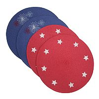 Celebrate Americana Together Round Placemat 4-pack
