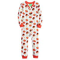 Baby Boy Sesame Street Elmo Printed One-Piece Footless Pajamas