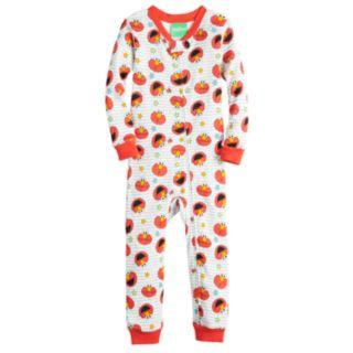 Baby Boy Sesame Street Elmo Printed One-Piece Footless Pajamas