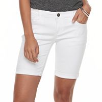 Petite Apt. 9® Rolled Jean Bermuda Shorts