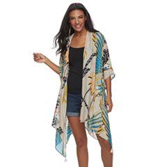 SONOMA Goods for Life™ Tropical Crane Print Oversized Kimono