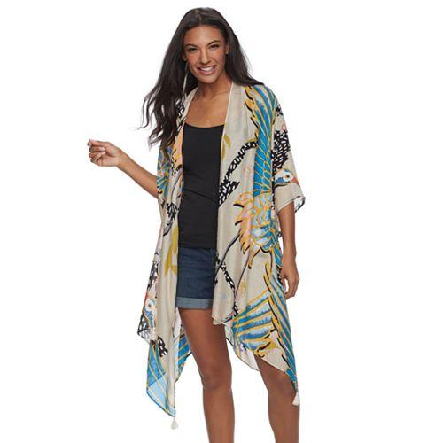28bc97ee65e81 Women's SONOMA Goods for Life™ Tropical Crane Print Oversized ...