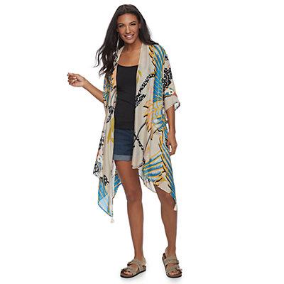 SONOMA Goods for Life? Tropical Crane Print Oversized Kimono