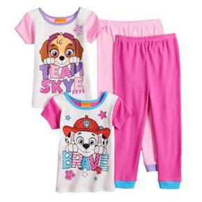 Toddler Girl Paw Patrol Skye & Marshall Tops & Bottoms Pajama Set