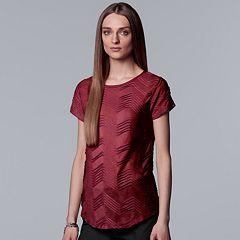 Women's Simply Vera Vera Wang Textured Zigzag Tee